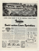 Vintage 1961 Thompson Swirl Action Lawn Sprinklers Ad