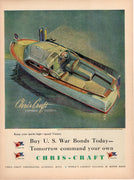 Vintage 1944 Chris Craft Express Cruiser Speed Boat Ad