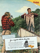 1951 Kodak Camera & Film Fishing Boat Ad
