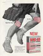 Vintage 1960 Johnson & Johnson Band Aid Extra Large Strips Ad