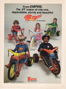 Vintage 1979 Empire Hot Cycle Big Wheel Ad
