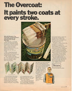 Vintage 1968 Sears One Coat Paint Ad
