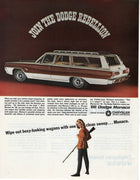 Vintage 1966 Dodge Monaco Station Wagon Dodge Rebellion Ad