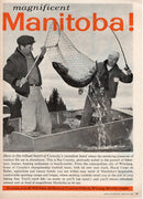 Vintage 1960 Magnificent Manitoba Canada Fishing Ad