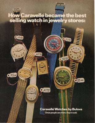 Vintage 1972 Caravelle Watch By Bulova Ad