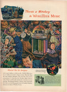 1947 Wurlitzer Music Jukebox Halloween Witchery Ad