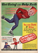 Vintage 1939 Baby Ruth Curtiss Candy Bar Ice Skater Ad
