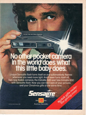 Vintage 1980 Kodak Tele-Ektralite 600 Camera Ad With Michael Landon