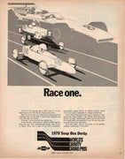 Vintage 1970 Soap Box Derby World's Gravity Grand Prix Ad