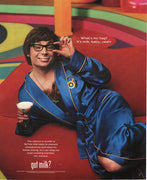 Vintage 1999 Mike Myers As Austin Powers Got Milk Ad