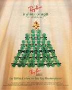 Vintage 1993 Ray Ban Sunglasses Christmas Tree Ad