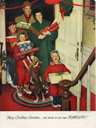 Vintage 1950 Norman Rockwell Merry Christmas Grandma Plymouth Ad