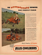 Vintage 1949 Allis Chalmers Rear Engine G Tractor Ad