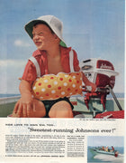 Vintage 1957 Johnson Sea Horse Motor Ad
