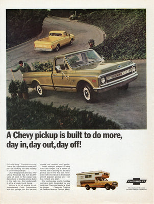 Vintage 1969 Chevy Fleetside Pickup Truck Ad