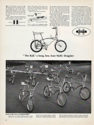 1967 The Rail Dragster Bicycle Ad