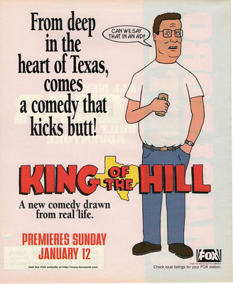 Vintage 1997 King Of The Hill TV Series Premier Ad
