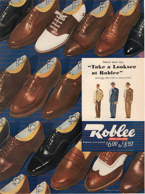 Vintage 1946 Roble Dress Shoes For Men Ad