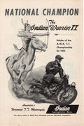 Vintage 1952 Indian Warrior T.T. Motorcycle Cycle Ad