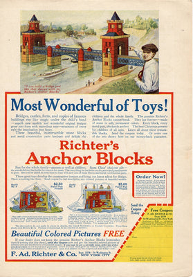 1914 Richter's Anchor Blocks Toy Ad