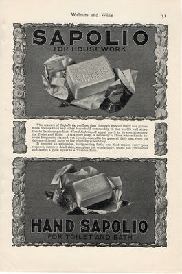 Antique 1902 Sapolio Morgans' Sons N.Y. Soap Ad