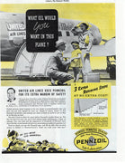 Vintage 1938 United Airlines Pennzoil Ad