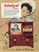 Vintage 1951 Admiral Television Ad