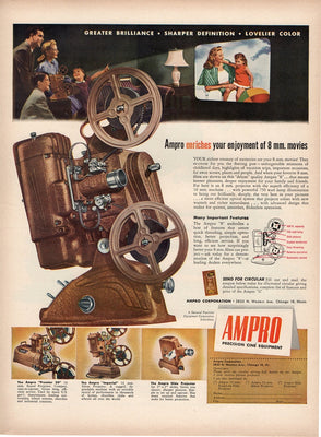 1947 Ampro Movie Projector Ad