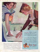 Vintage 1935 Bon Ami Cleaning Powder Ad