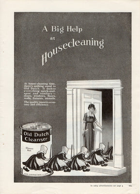 Antique 1921 Old Dutch Cleanser Ad