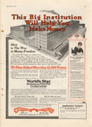 1917 World's Star Knitting Co Money Making Ad