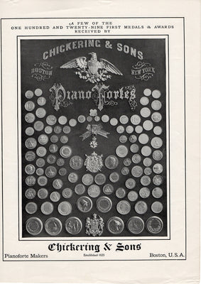 Antique 1904 Chickering & Sons Pianoforte Piano Ad