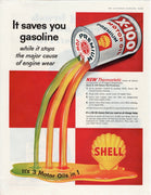 Vintage 1958 Shell X-100 Premium Motor Oil Ad