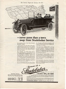 1915 Studebaker Car & Service Station Ad