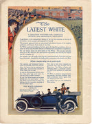 Antique 1914 White Company Blue Car Ad