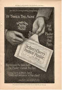 1899 Dr Ayer's Cherry Pectoral Plaster Medicine Ad
