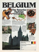 Vintage 1981 Belgium The Surprise Package Of Europe Tourism Ad