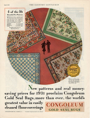 1931 Congoleum Gold Seal Rugs Ad
