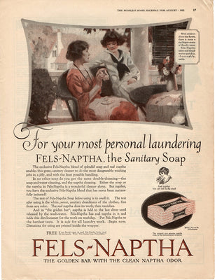 Antique 1922 Fels Naptha Sanitary Soap Ad