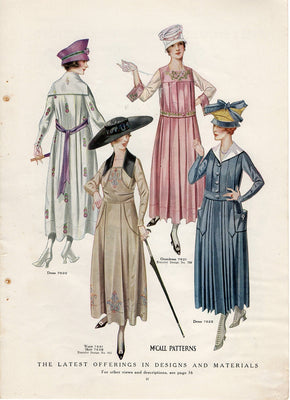 1917 McCall Patterns For Women's Dresses Ad