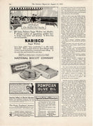 Antique 1915 Nabisco Biscuit Co Sugar Wafers Ad
