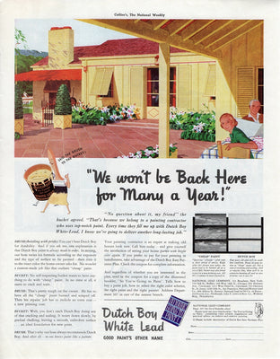 Vintage 1938 Dutch Boy White Lead Paint Ad