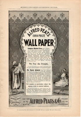 Antique 1899 Alfred Peats & Co. Prize Wallpaper Ad