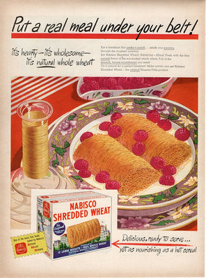 Vintage 1946 Nabisco Shredded Wheat Cereal Ad