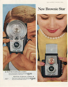 1957 Brownie Star Starflash & Starflex Camera Ad