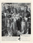 Vintage 1958 Canada Tourism Fishing Ad