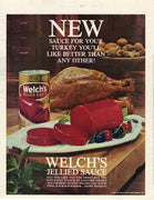 Vintage 1960 Welch's Jellied Sauce Ad