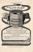 Antique 1902 Armour & Co Extract Of Beef Ad