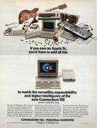 Vintage 1985 Commodore 168 Personal Computer Ad