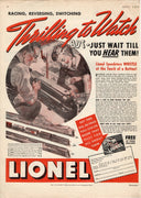Vintage 1936 Lionel Speedsters Train Ad
